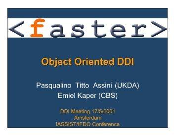 Object Oriented DDI - Data Documentation Initiative