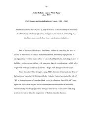 PKC Research at Joslin Diabetes Center – 1981 – 2005