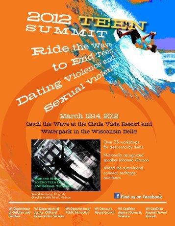 teen summit brochure - Wisconsin Coalition Against Domestic ...