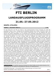 fti berlin landausflugsprogramm 21.05.-27.05.2012 - FTI Cruises