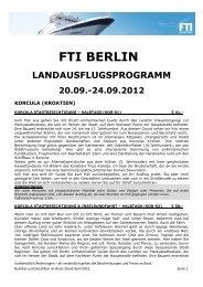 fti berlin landausflugsprogramm 20.09.-24.09.2012 - FTI Cruises