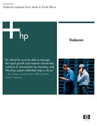 Vodacom - March 2004 (79 KB, PDF) - Hewlett-Packard