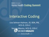 Vonnie and Lisa's Interactive Coding - Selman-Holman & Associates
