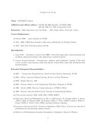 Curriculum Vitae Name : POUQUET Annick Affiliation and ... - IMAGe