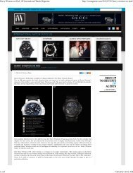 Harry Winston on iPad | iW International Watch ... - Minus4Plus6.com