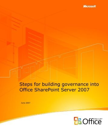 Steps for building governance into Office ... - Artis Consulting