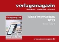 Media-Informationen - verlagsmagazin