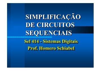 Simplificação de Circuitos Sequenciais - Iris.sel.eesc.sc.usp.br