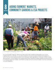 aiding farmers' markets, community gardens & csa projects