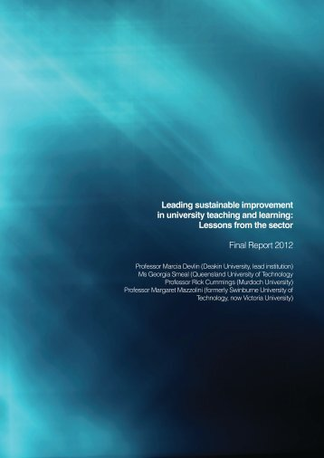 Leading sustainable improvement in university teaching and learning