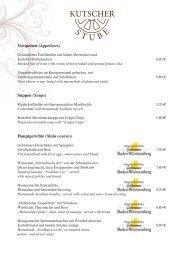 Speisekarte Kutscherstube (ca. 650 KB) - Flair Park-Hotel Ilshofen