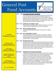 General Post Fund Accounts - VA Health Care Upstate New York
