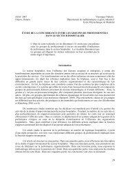 Étude de la concordance entre les groupes de professionnels dans ...
