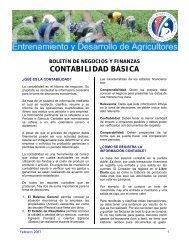 CONTABILIDAD BÁSICA - Cuenta del Milenio - Honduras