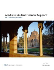 Graduate Student Financial Support for Continuing Students