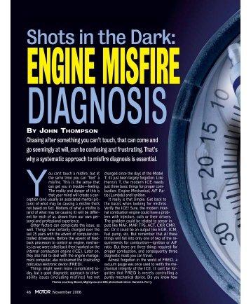 Shots in the Dark: - MOTOR Information Systems