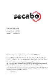 ISTRUZIONI PER L'USO delle presse per trasferibili Secabo TC 2 ...