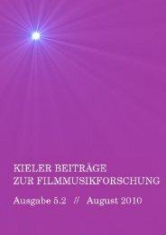 Download Kieler Beiträge zur Filmmusikforschung 5.2, August 2010