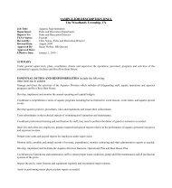 Sample Aquatics Job Description - NRPA Career Center