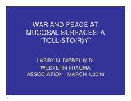 war and peace at mucosal surfaces - Western Trauma Association