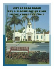 Pay and Classification Plan - City of Boca Raton