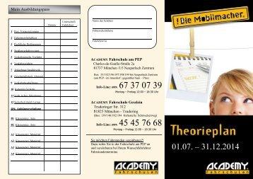 Theorieplan Juli 2012 - fahrschule-trudering.de