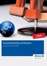 Investmentfonds und Steuern - Fonds Professionell