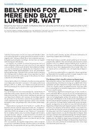 Belysning for ældre – mere end blot lumen pr. watt. - Lysnet