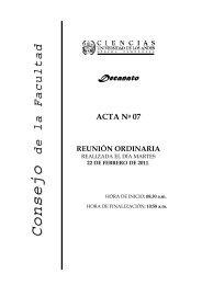 ACTA No 07 REUNIÓN ORDINARIA - Facultad de Ciencias - ULA