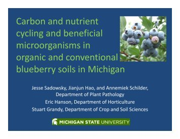 Carbon and nutrient cycling and beneficial microorganisms in ...