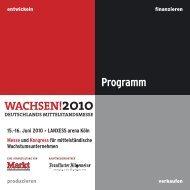 WACHSEN!2010 Programm - WestLB