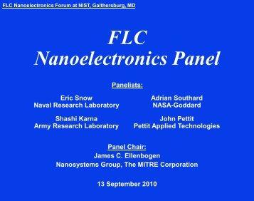 Summer 2002 Nanosystems Group Orientation Meeting - FLC Mid ...