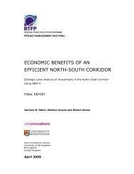 Economic Benefits - Efficient North-South Corridor - TradeMark ...