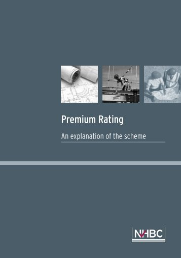 Download Premium Rating booklet. - NHBC Home