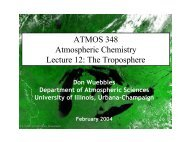 Trop. NOx, CO and Importance of OH - Department of Atmospheric ...