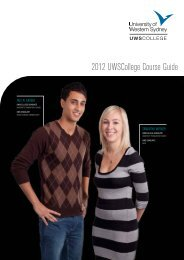 2012 UWSCollege Course Guide - University of Western Sydney