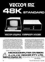 Vector Graphic System