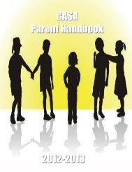 CASA Parent Handbook 2012-2013 - Loudoun County