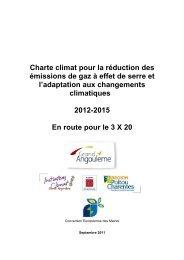 Charte climat pour la réduction des émissions de gaz à ... - Angoulême