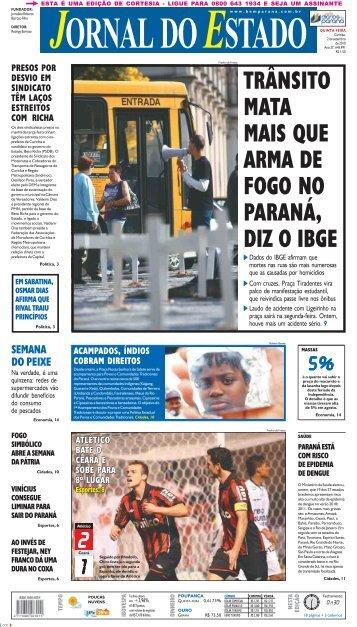 TRÂNSITO MATA MAIS QUE ARMA DE FOGO NO ... - Bem Paraná
