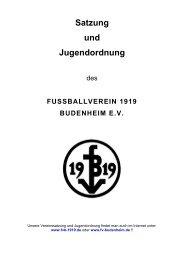 Satzung zum herunterladen...! - FV 1919 Budenheim