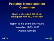 Proposal to Eliminate the Requirement that ... - Transplant Pro