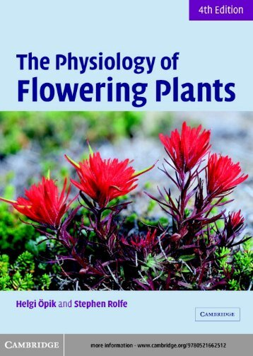 The Physiology of Flowering Plants - KHAM PHA MOI