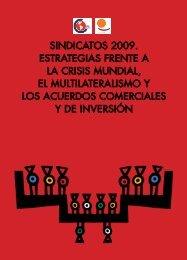 SINDICATOS 2009. ESTRATEGIAS FRENTE A LA CRISIS ...