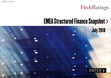 EMEA Structured Finance Snapshot > - India Ratings