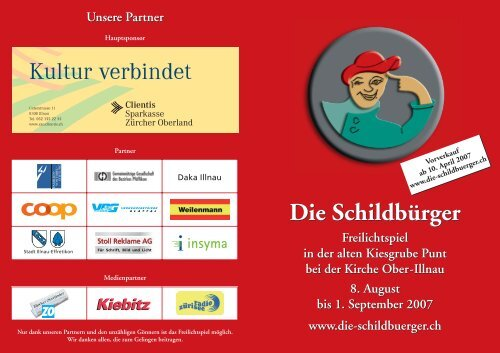 Flyer - Verein Freilichtspiele Illnau
