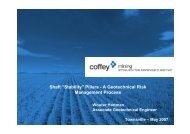 Shaft pillar stability - Geohart Consultants