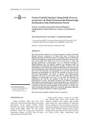 Variasi Genetik Populasi Udang Putih (Penaeus merguiensis de Man)