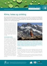 Klima, helse og utvikling (pdf)