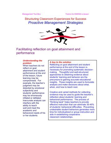 Reflection on goal attainment